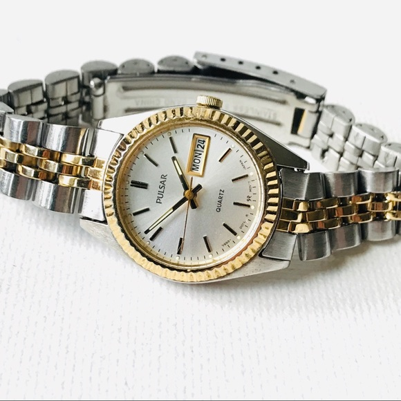Pulsar Accessories - SOLD Seiko Pulsar Day/Date Women's Two Tone Watch